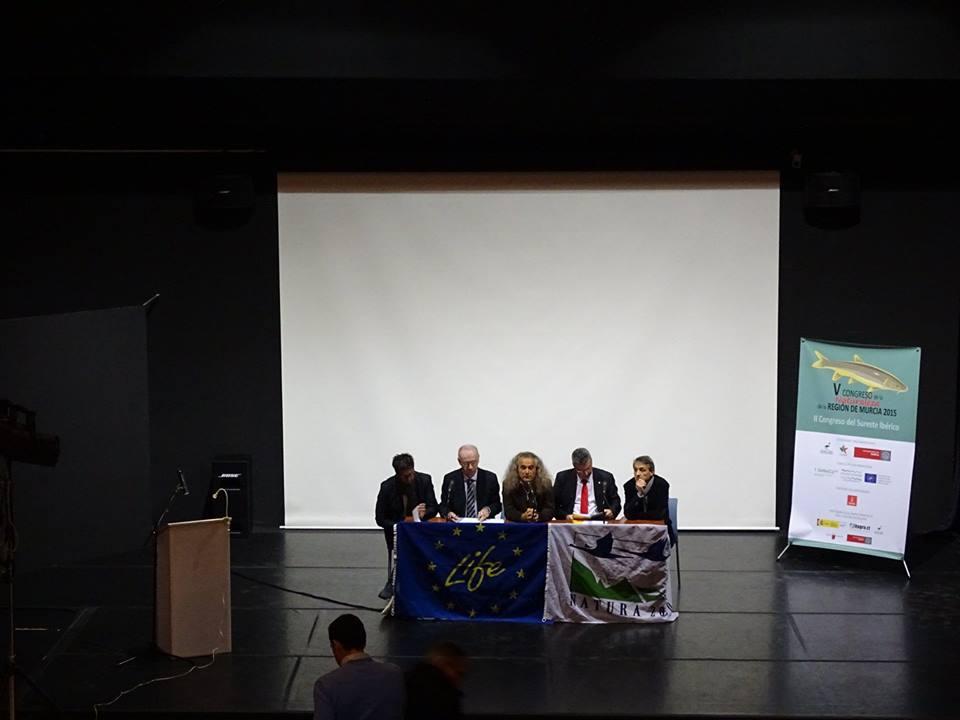 Ver la imagen en tamaño real. Apertura del V Congreso de la naturaleza de la Región de Murcia y II congreso del Sureste Ibérico organizado en el contexto del LIFE+SEGURARIVERLINK