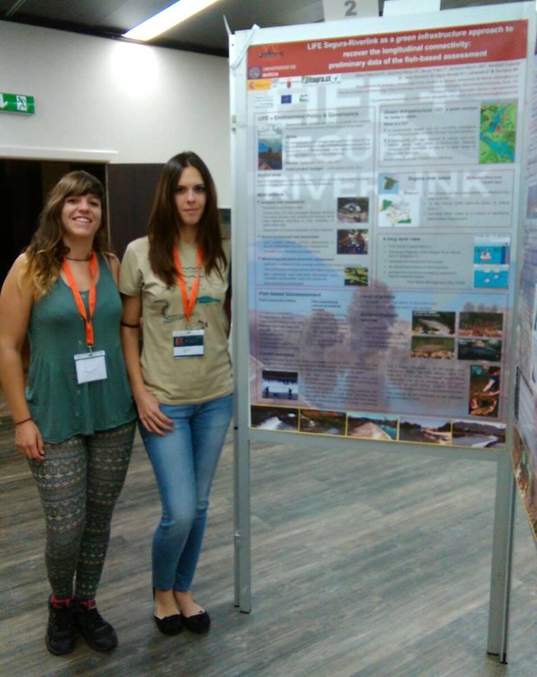 Ver la imagen en tamaño real. El LIFE+SEGURARIVERLINK en el European Congress of Ichthyology