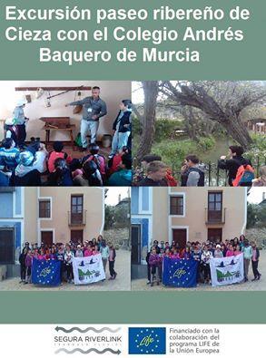 Ver la imagen en tamaño real. El Colegio Andrés Baquero visita el río de la mano del LIFE+SEGURARIVERLINK