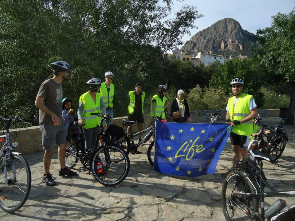 Ver la imagen en tamaño real. Ruta en bicicleta por los escenarios del LIFE+SEGURARIVERLINK