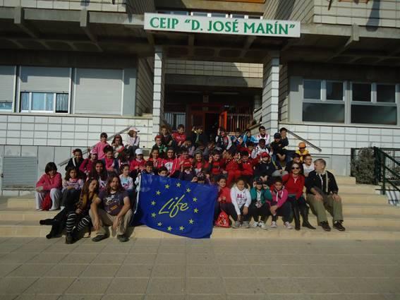 Ver la imagen en tamaño real. Alumnos del CEIP Don José Marín de Cieza descubren el río con LIFE+SEGURA RIVERLINK