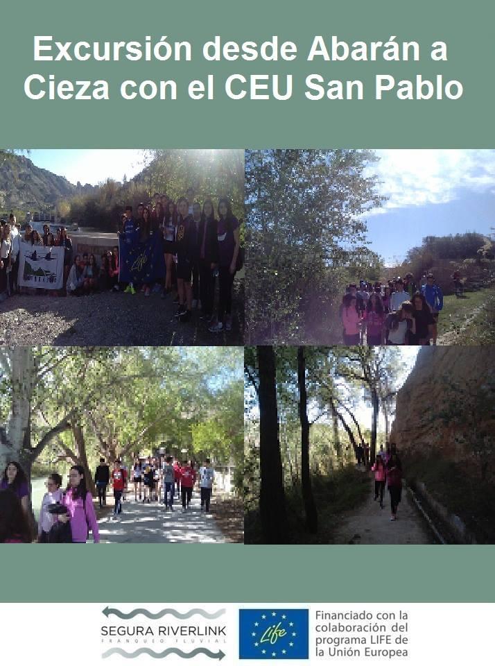 Ver la imagen en tamaño real. CEU San Pablo visita el LIFE+SEGURARIVERLINK