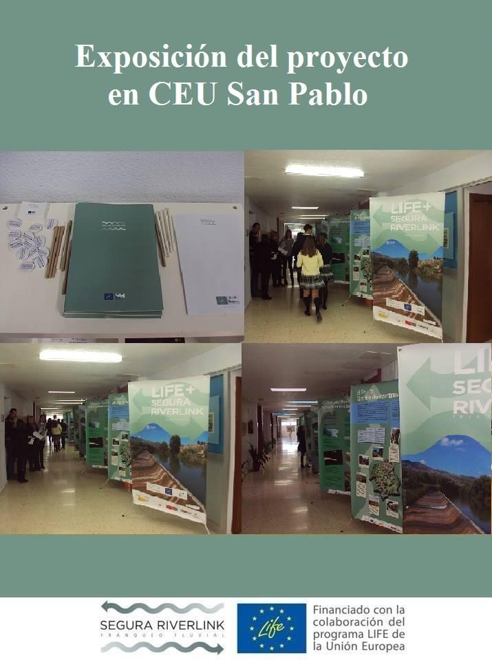 Ver la imagen en tamaño real. Acciones de divulgación del LIFE + SEGURA RIVERLINK llegan al colegio CEU San Pablo