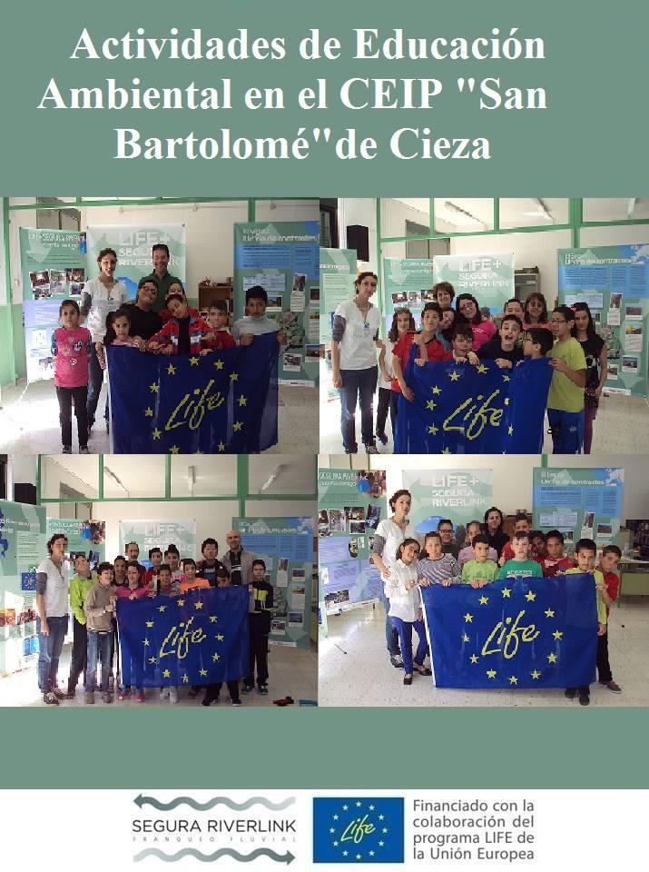 Ver la imagen en tamaño real. LIFE SEGURARIVERLINK llega al colegio San Bartolomé de Cieza