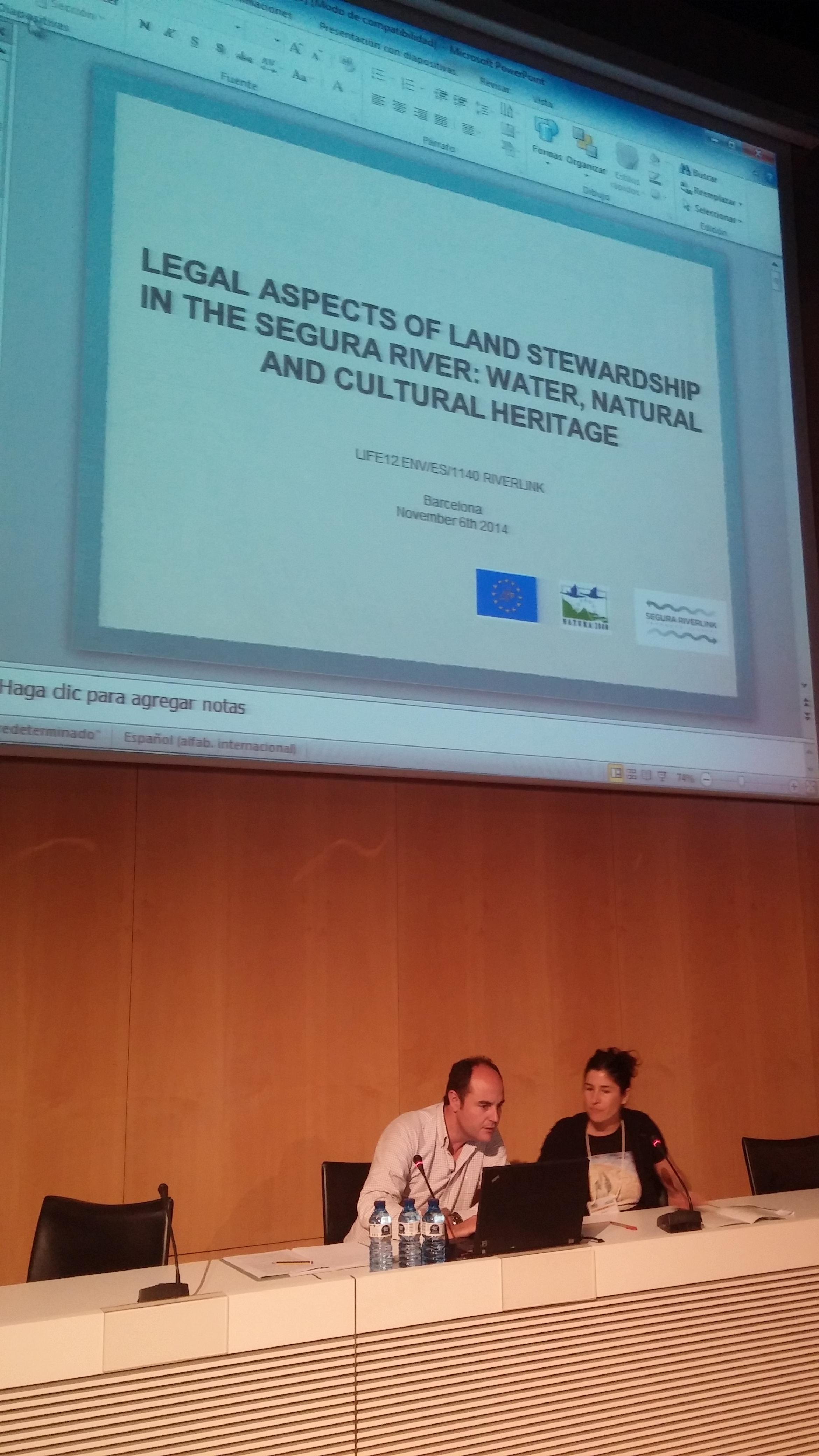 Ver la imagen en tamaño real. El LIFE + SEGURA RIVERLINK en el Congreso Europeo de Custodia del Territorio