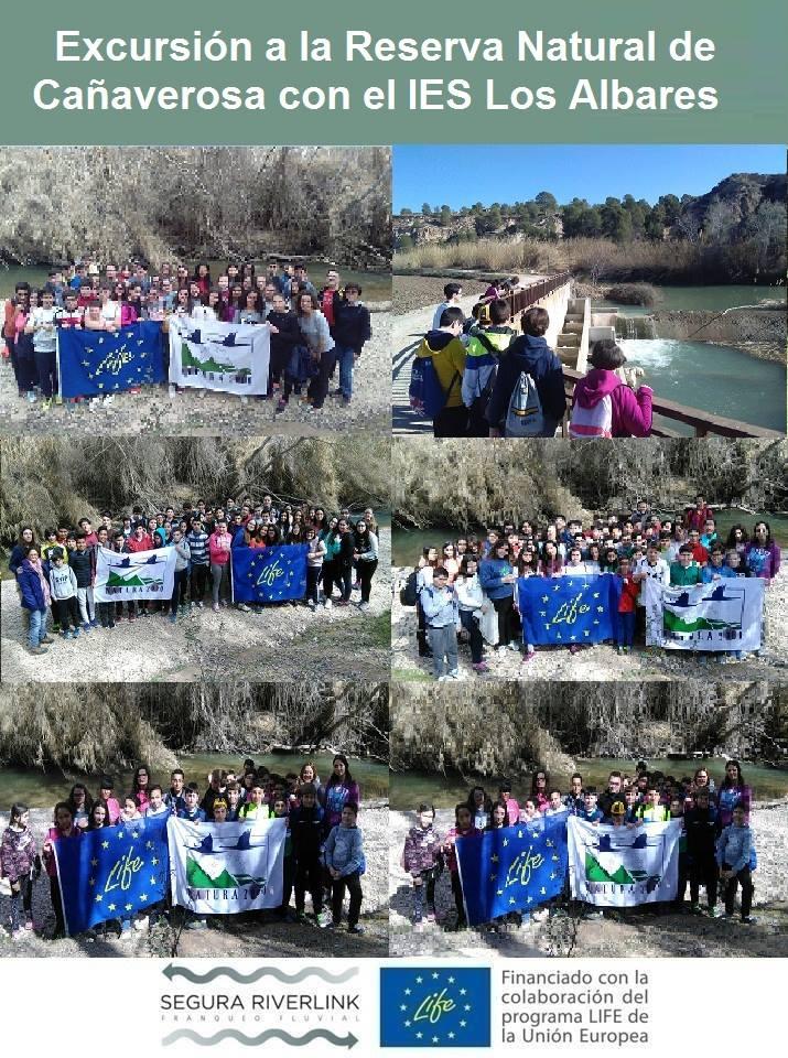Ver la imagen en tamaño real. 200 alumnos del IES Los Albares han descubierto Cañaverosa y el río de la mano del LIFE+SEGURARIVERLINK