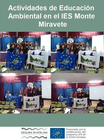 Ver la imagen en tamaño real. El IES Monte Miravete participa en las actividades de educación ambiental del LIFE+SEGURARIVERLINK