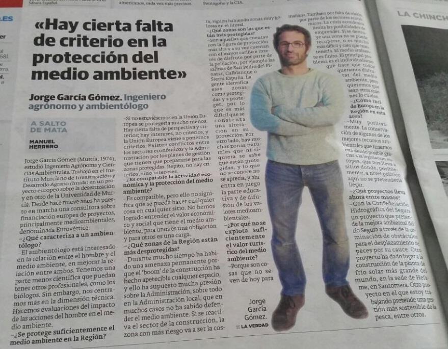 Ver la imagen en tamaño real. La Verdad entrevista a Jorge García socio de Eurovértice