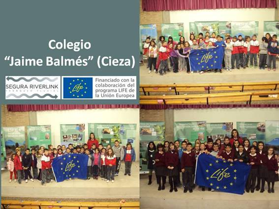 Ver la imagen en tamaño real. El LIFE + SEGURA RIVERLINK llega al Colegio Jaime Balmés