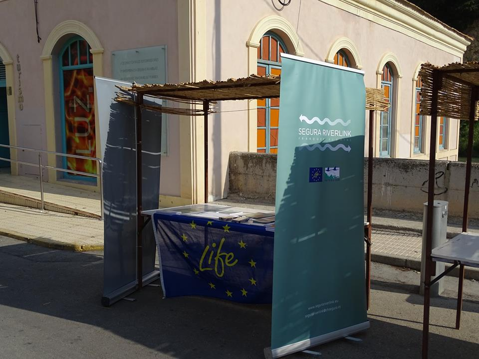 Ver la imagen en tamaño real. LIFE+SEGURARIVERLINK participa en la 1 feria de Medio Ambiente que tuvo lugar en Blanca