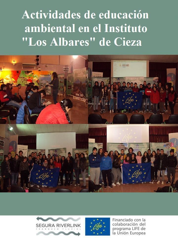 Ver la imagen en tamaño real. LIFE +SEGURARIVERLINK llega al Instituto Los Albares (Cieza)