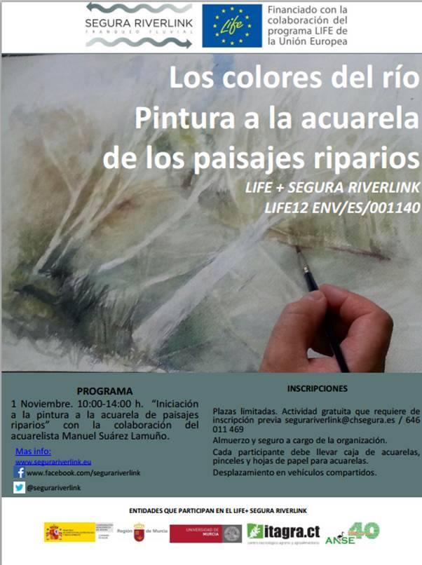 Ver la imagen en tamaño real. Próxima actividad de voluntariado: Introducción a la pintura con acuarela de paisajes riparios