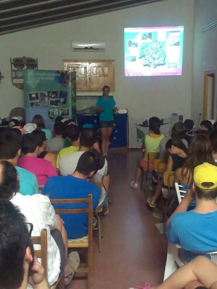 Ver la imagen en tamaño real. Educación ambiental en verano con LIFE+SEGURARIVERLINK