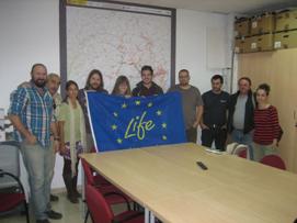 Ver la imagen en tamaño real. Reunión entre organizaciones sociales y el proyecto LIFE+ SEGURA RIVERLINK