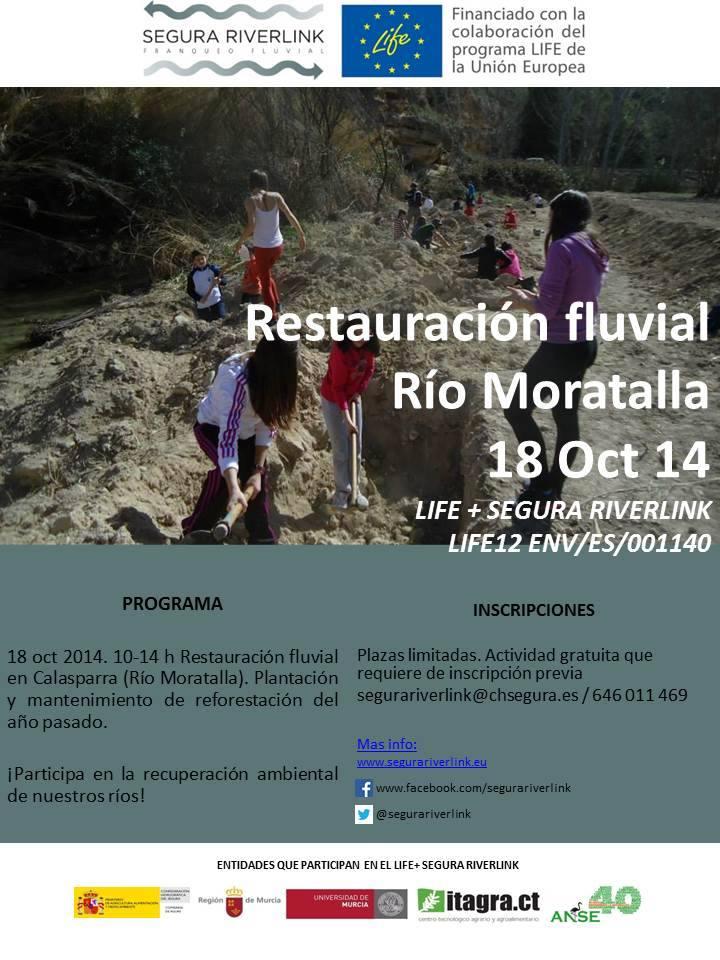 Ver la imagen en tamaño real. Actividad de voluntariado en el Río Moratalla (Calasparra)