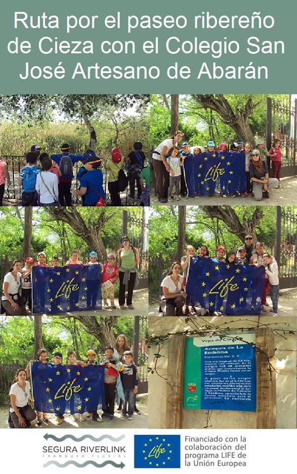 Ver la imagen en tamaño real. Los alumnos del San José Artesano de Abarán salen al río con SEGURARIVERLINK