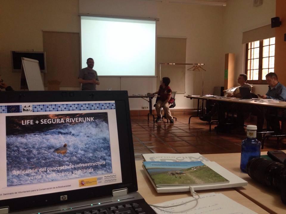 Ver la imagen en tamaño real. SEGURARIVERLINK asiste al seminario de voluntariado para la conservación de la biodiversidad